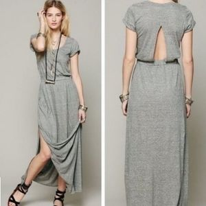 Free People Beach Audrina Slit Cut-Out Maxi Dress